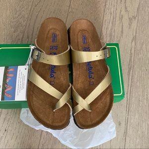 Betula Mia gold sandals 37
